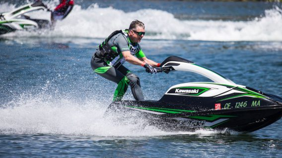 Stand up jet skiing